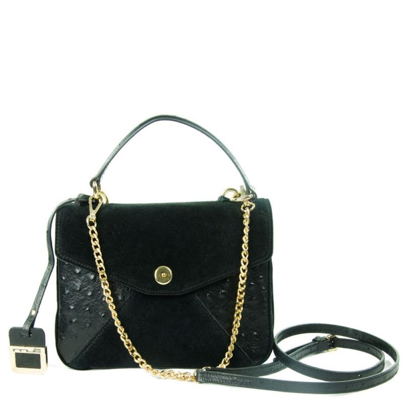9b85678c4b9a Black leather bag