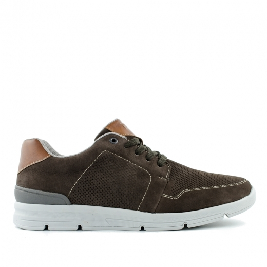 Brown leather shoes Rieker