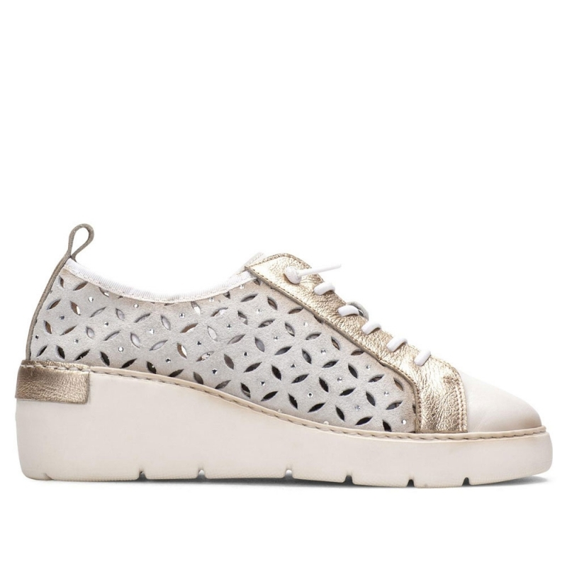 MILVARA P , White shoes with laces