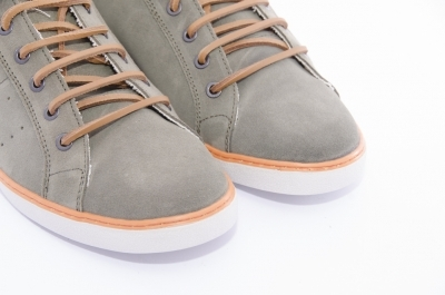 Suede sneakers with leather laces
