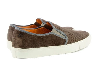 Brown suede sneakers
