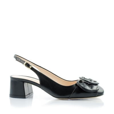 Thick heel leather  shoes