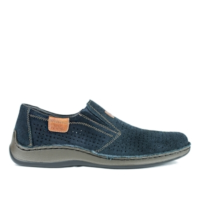 Blue leather shoes Rieker