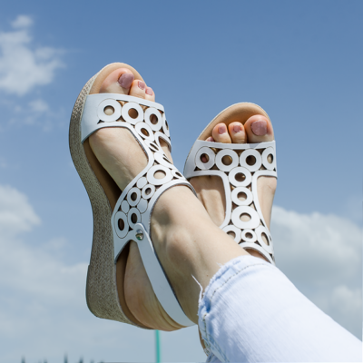 Flat Sandal  Oh My Sandals White