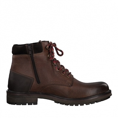 Leather boots S.Oliver Brown